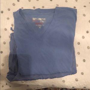 Grey's anatomy scrub set XL used